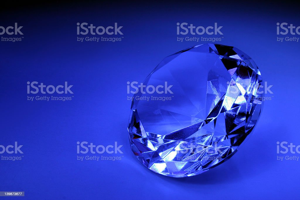 Dark blue gem royalty-free stock photo