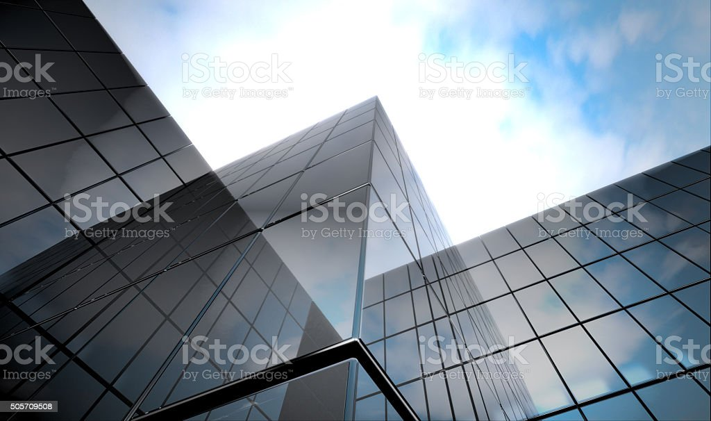 dark blue  glass surface stock photo