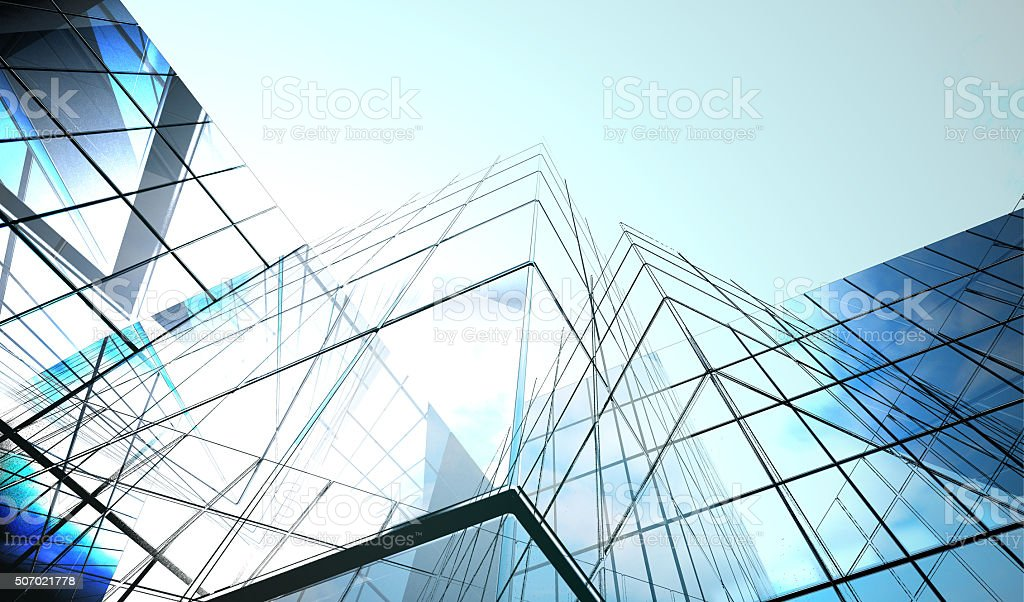 dark blue  glass surface stock photo