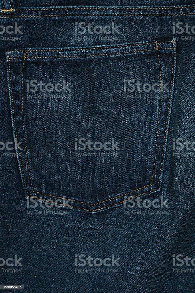 Dark blue jeans texture. stock photo