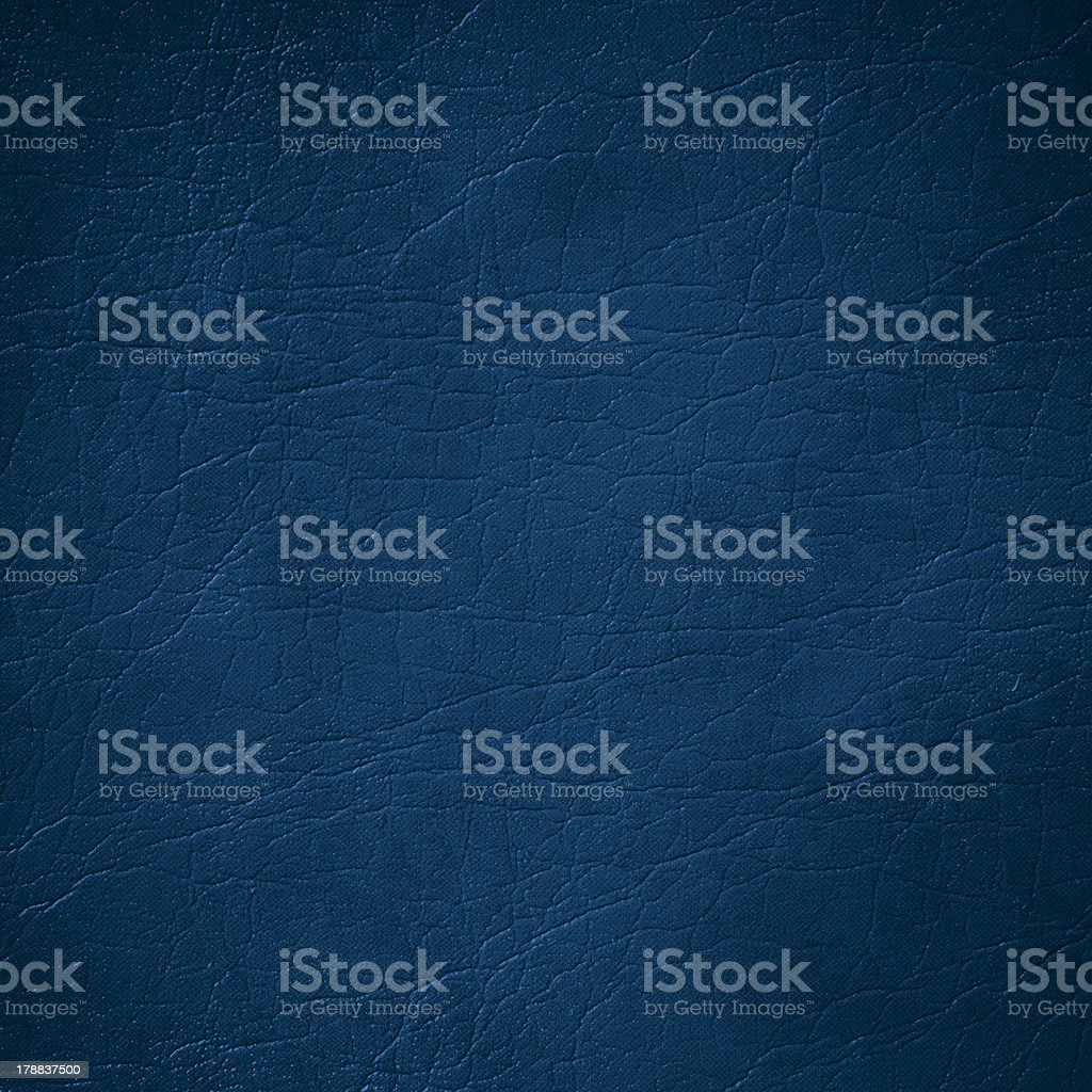 Dark blue leather background with pores and lines stock photo