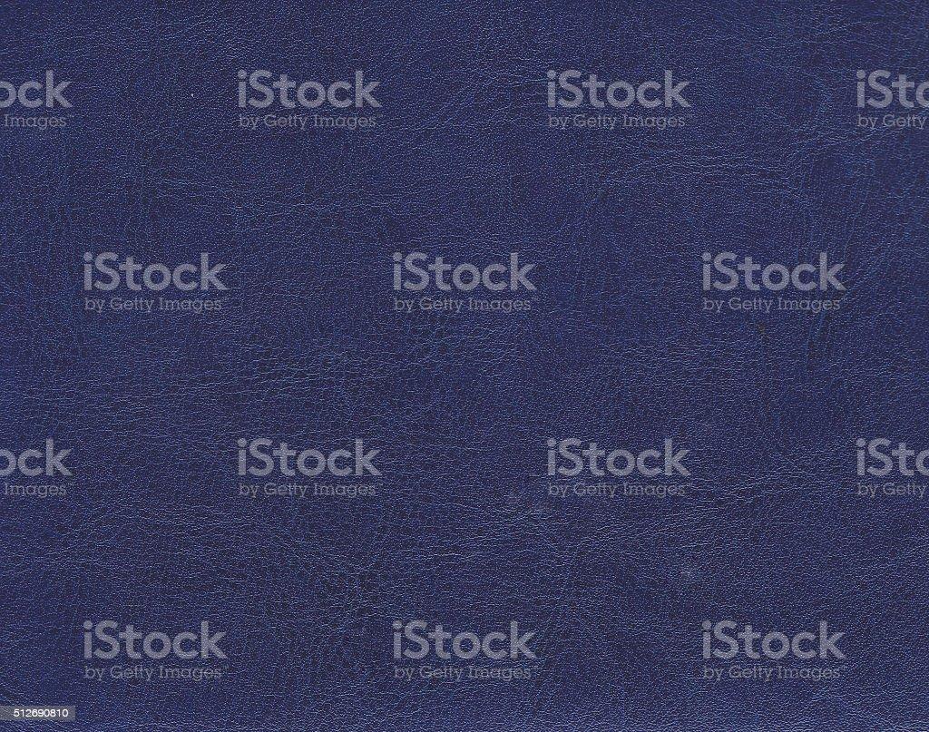 Dark blue leather texture. stock photo