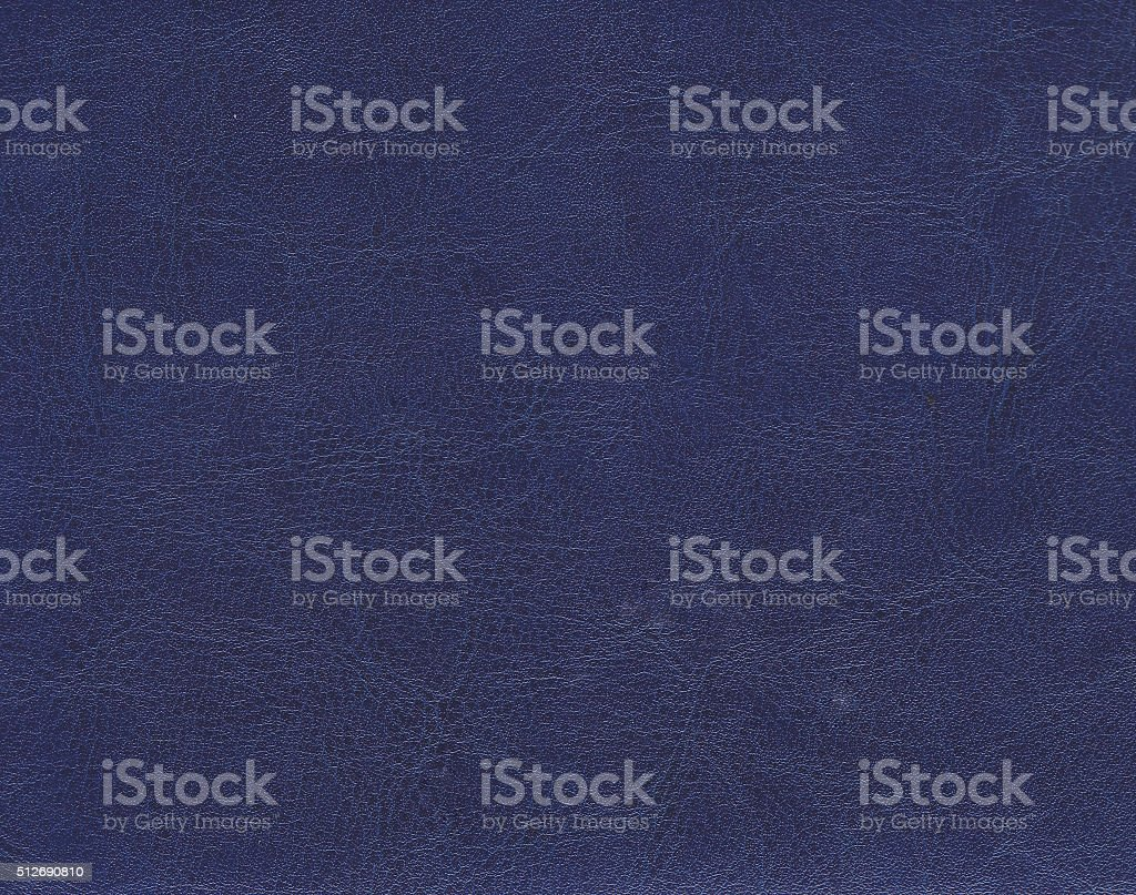 Dark blue leather texture. stock photo