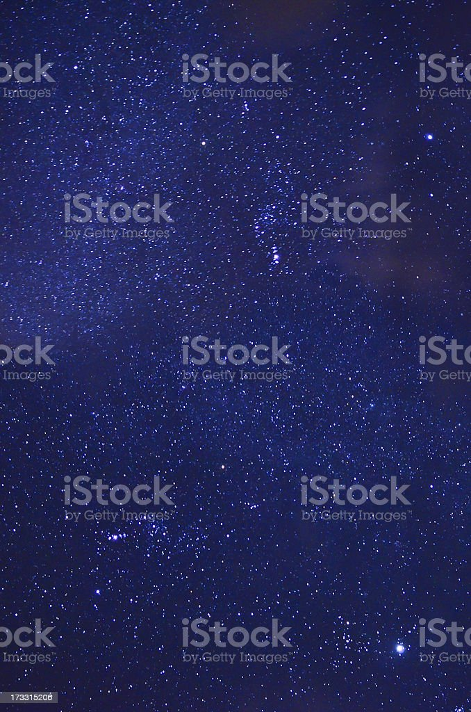 A dark blue night sky with stars royalty-free stock photo