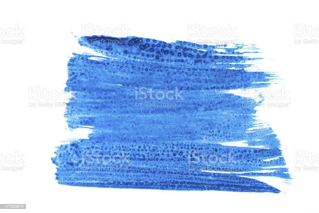 Dark blue paint stock photo