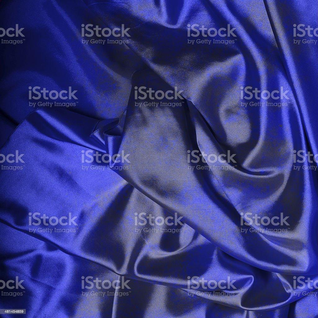 Dark blue silk background royalty-free stock photo
