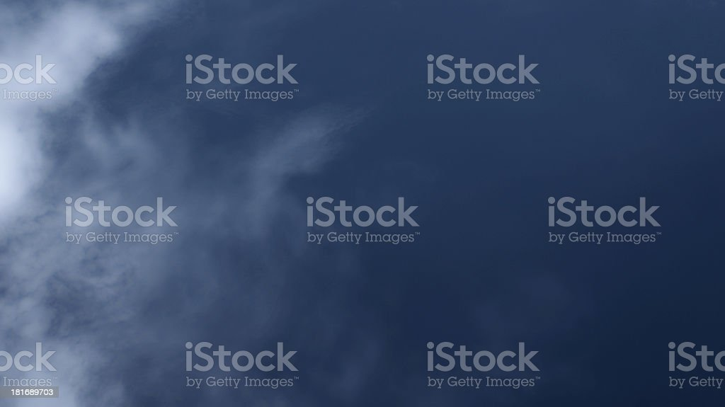 Dark blue sky with little cloud royalty-free stock photo