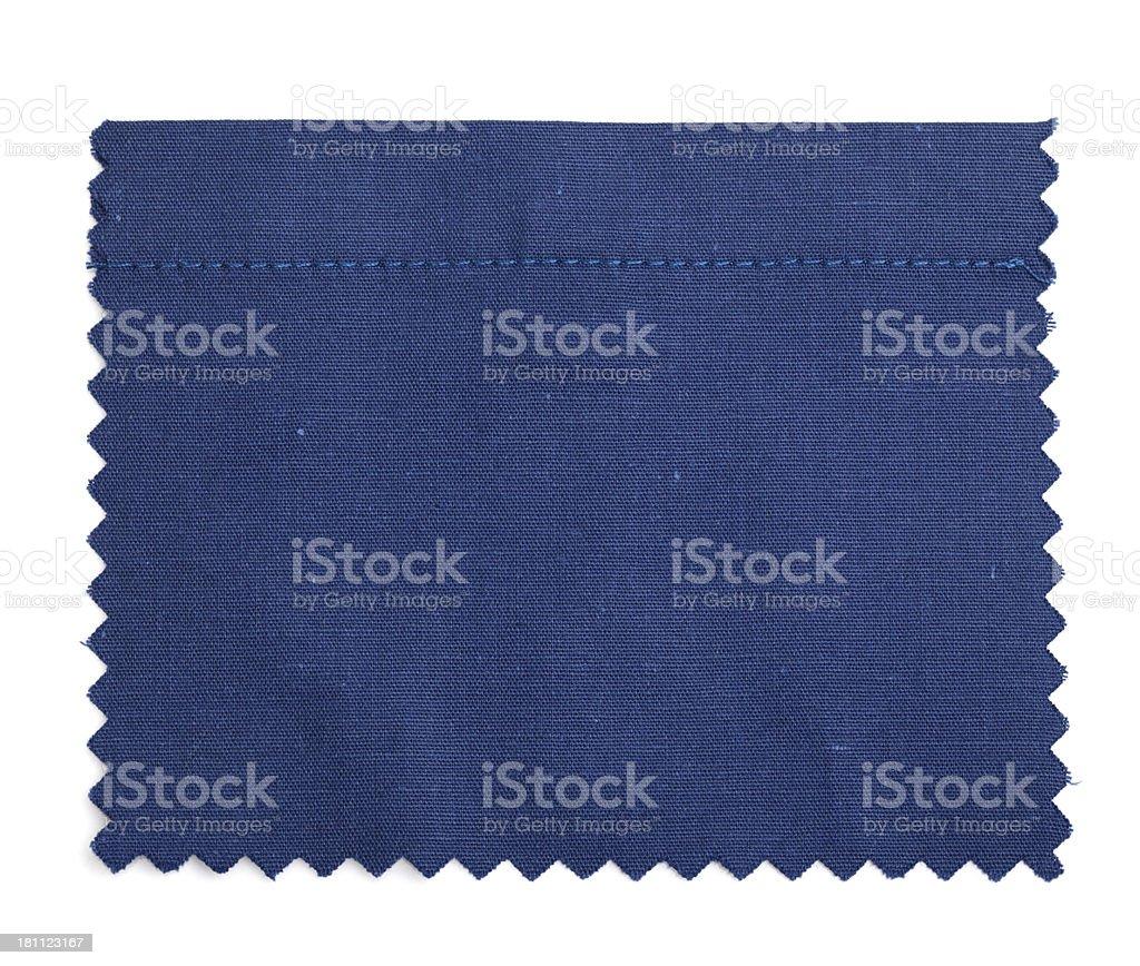 Dark Blue Stitched Fabric Swatch royalty-free stock photo