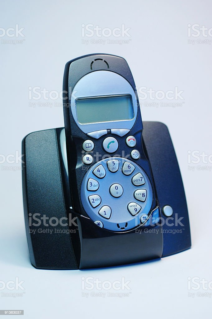 dark blue telephone royalty-free stock photo
