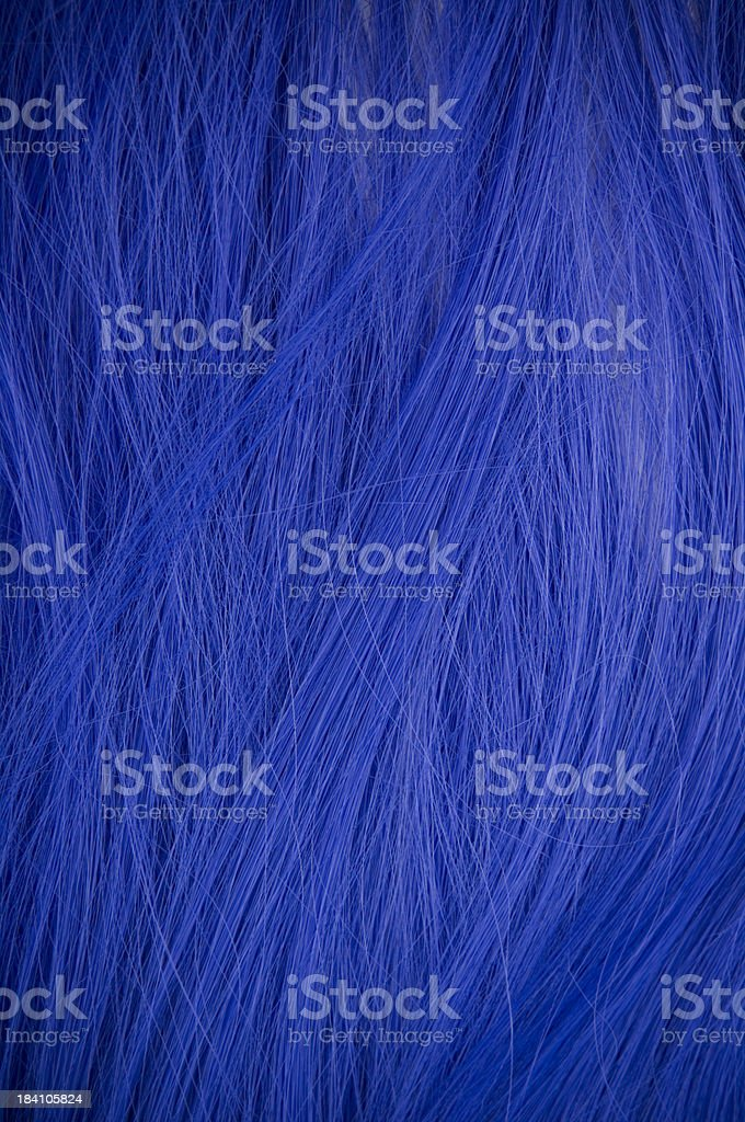 Dark blue wig stock photo
