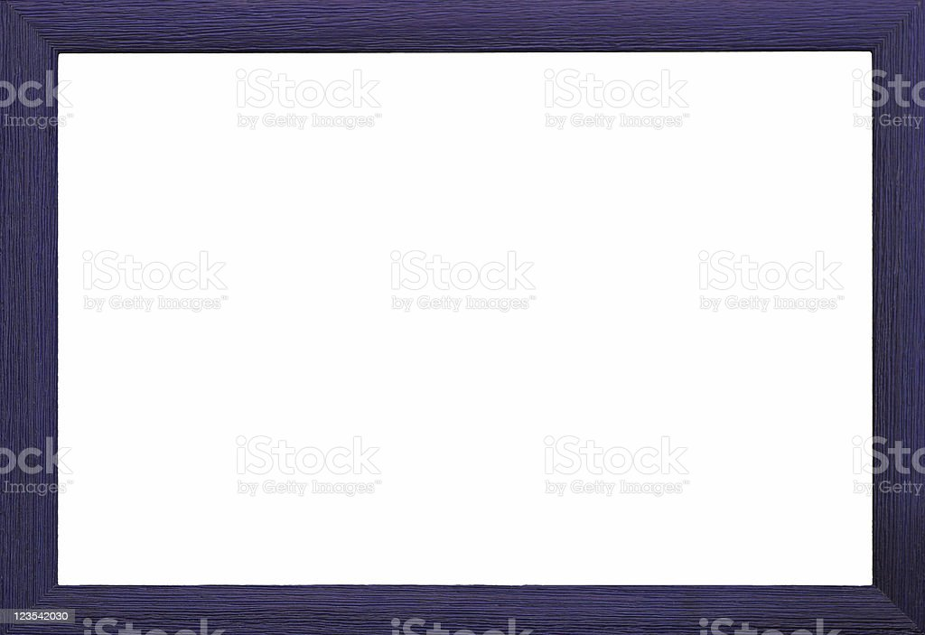 Dark blue wooden frame royalty-free stock photo