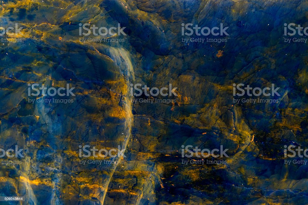 Dark Blue yellow marble  texture background stock photo