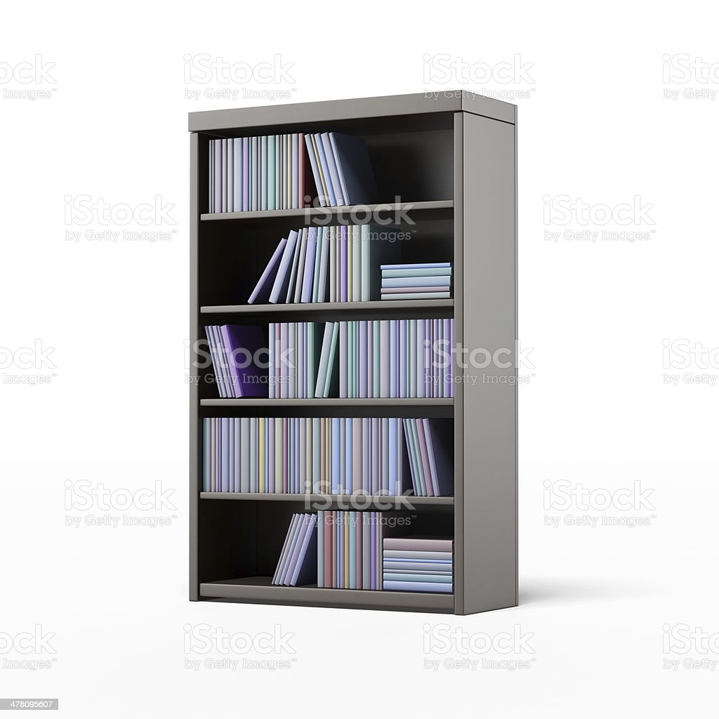 dark bookcase with books royalty-free stock photo