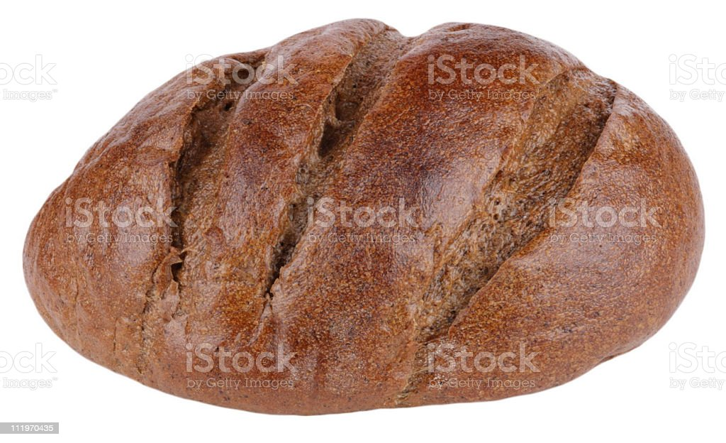 dark bread on isolated royalty-free stock photo