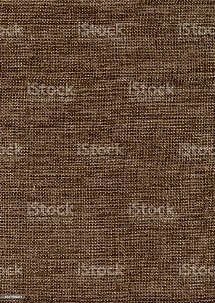 Dark Brown Burlap XXXL royalty-free stock photo