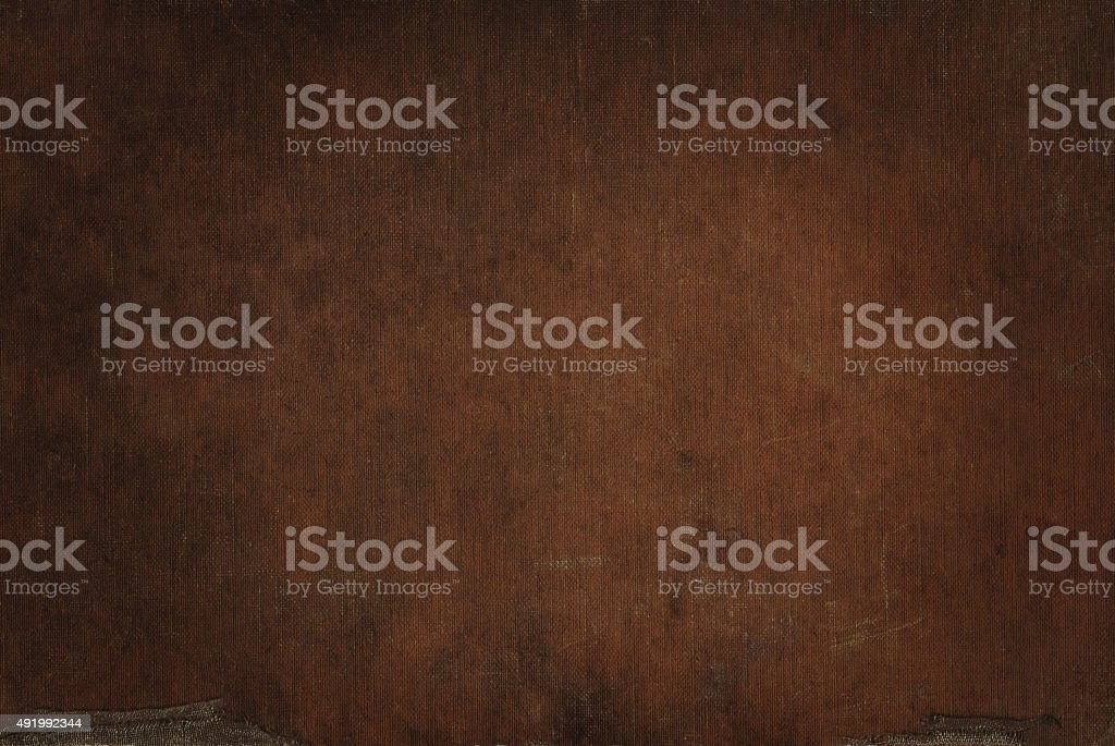 Dark brown canvas grunge background texture stock photo