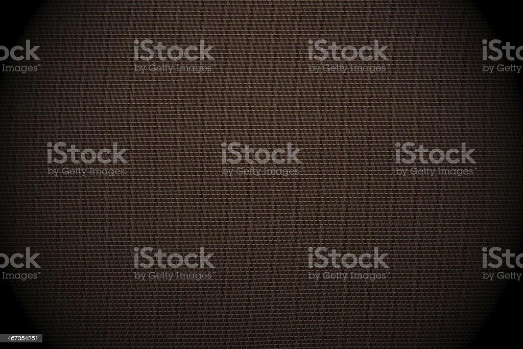 Dark brown checked fabric background stock photo