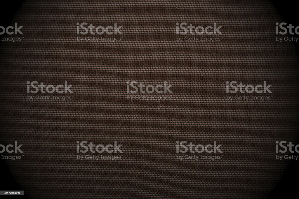Dark brown checked fabric background stock photo
