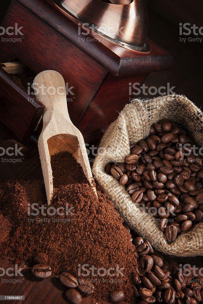Dark brown coffee background. royalty-free stock photo