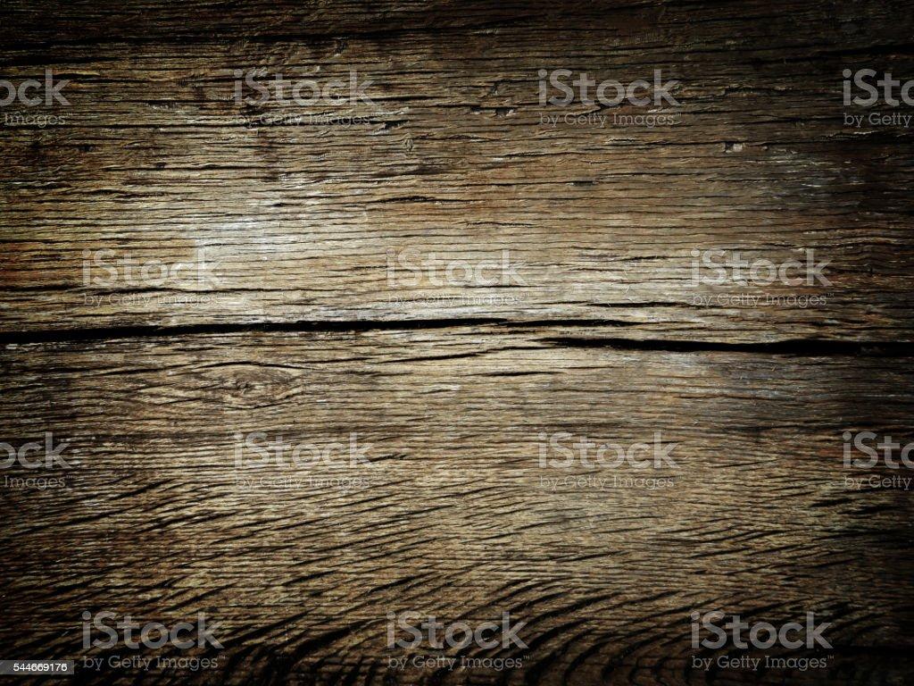 Dark brown colored oak wood texture stock photo