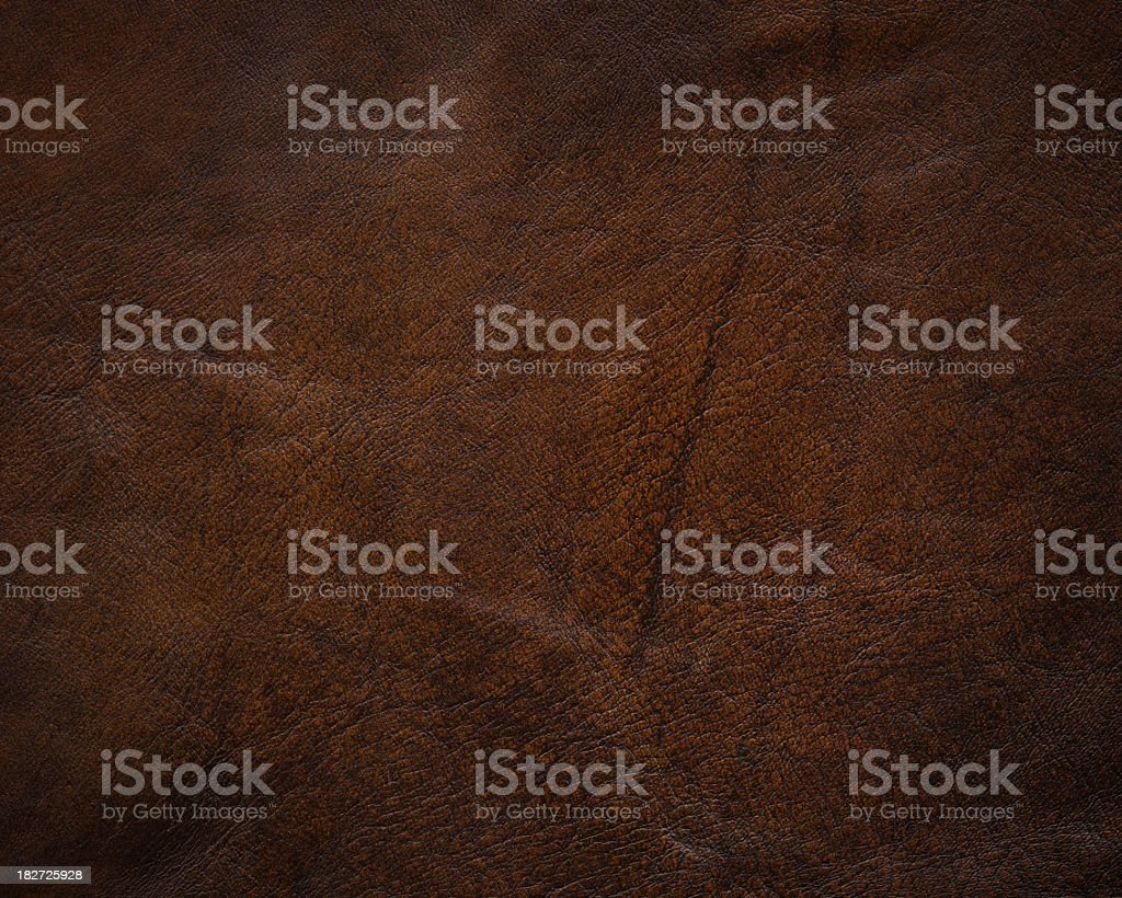 High resolution dark brown leather texture stock photo