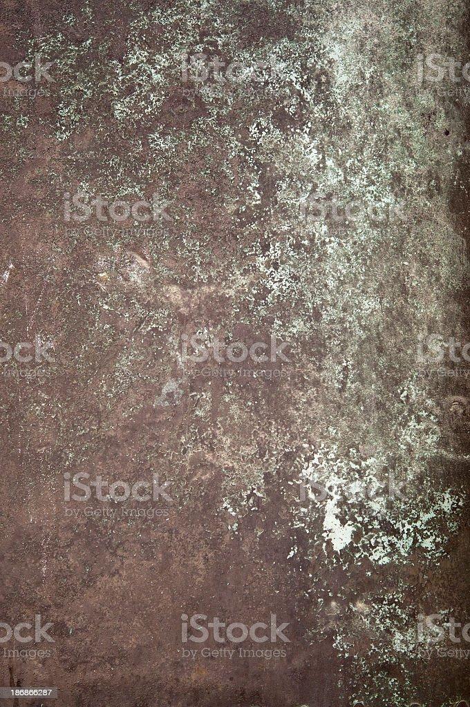 Dark brown light green bronze metal grunge background royalty-free stock photo