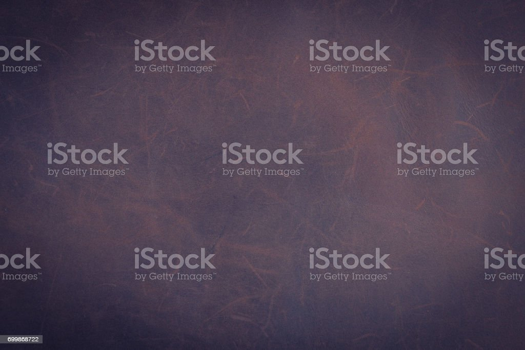 Dark brown Nubuck leather background and texture stock photo