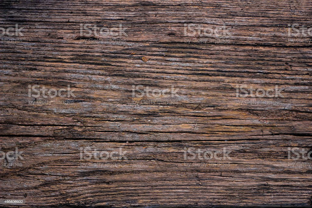 Dark Brown Old Wooden Table Background stock photo