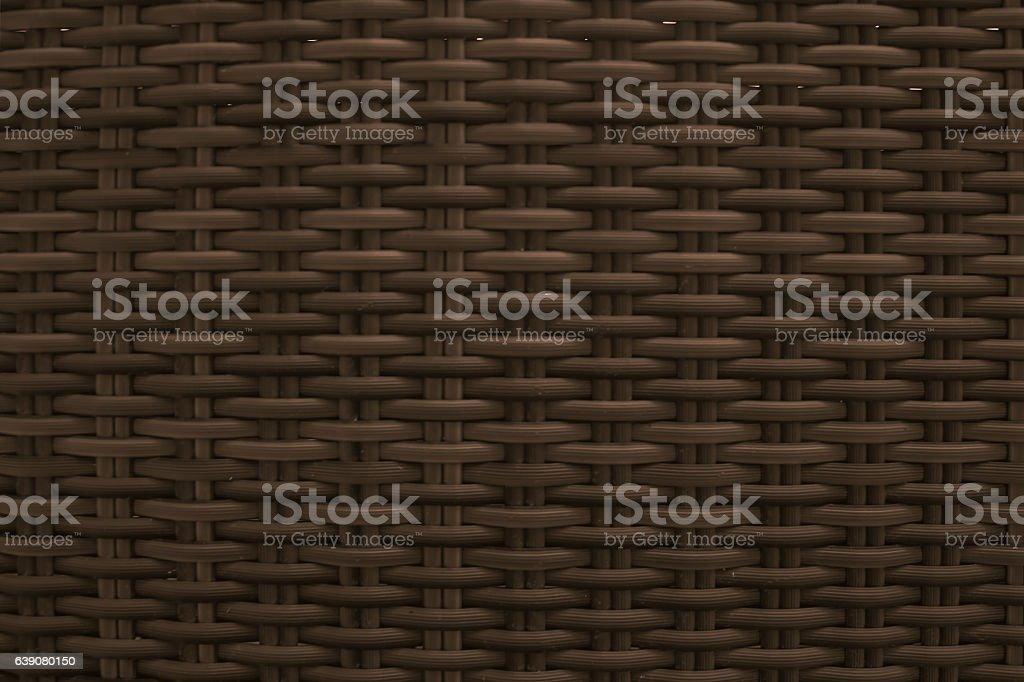 Dark brown wicker seamless textured stock photo