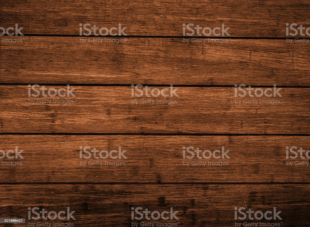 Dark  brown wood plank panel for wall stock photo