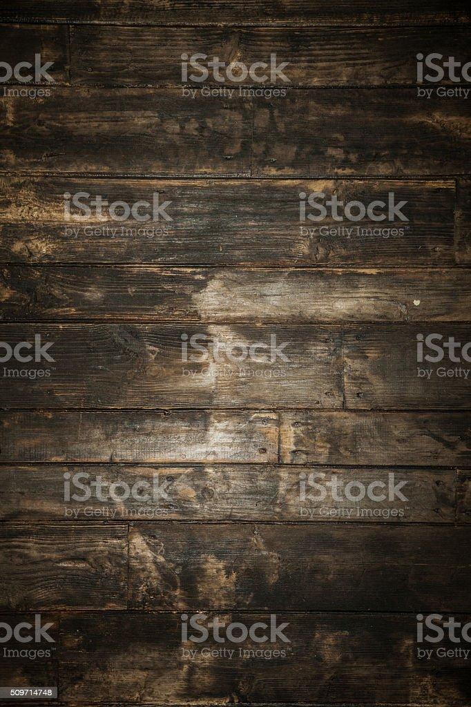Dark brown wooden background. stock photo