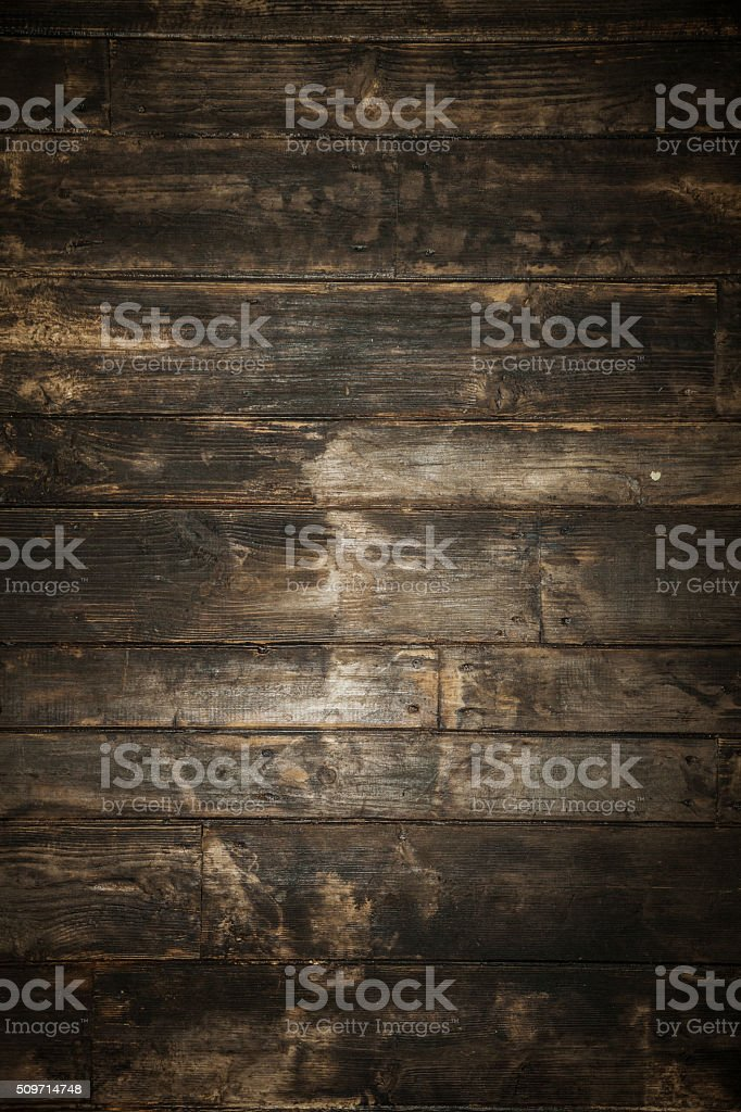 Dark brown wooden background. stock photo