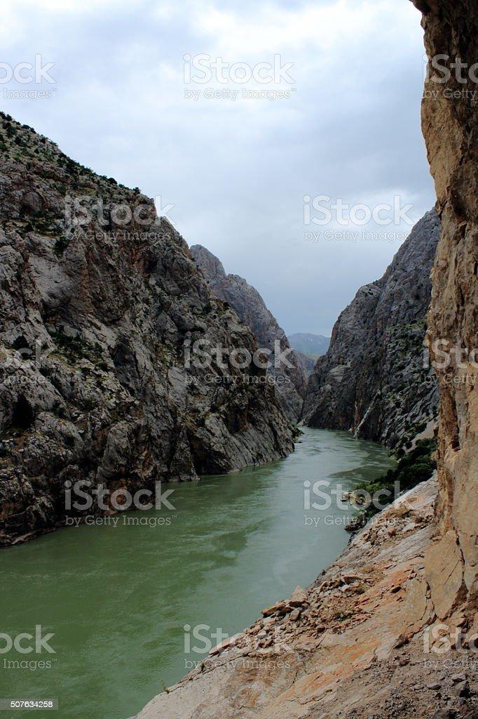 dark canyon stock photo