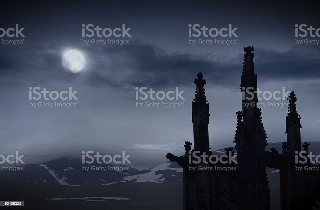 Dark castle royalty-free stock photo