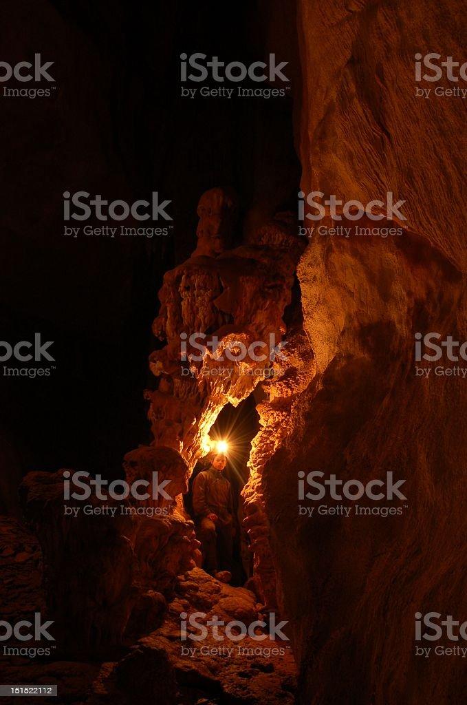 Dark cave stock photo