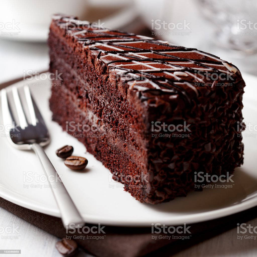 Dark Chocolate Cake with Coffee stock photo