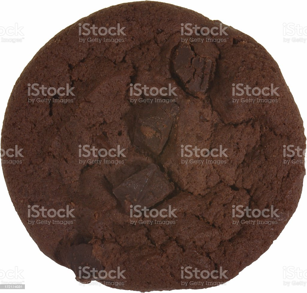 Dark Chocolate Chip Cookie royalty-free stock photo