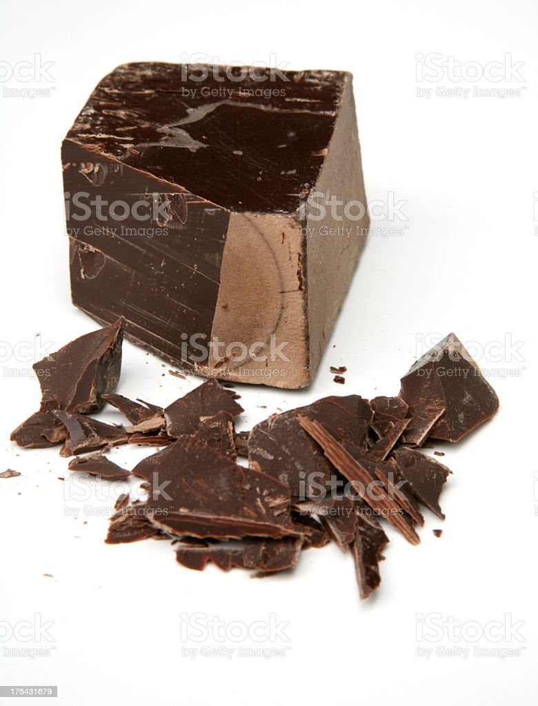 Dark couverture chocolate royalty-free stock photo