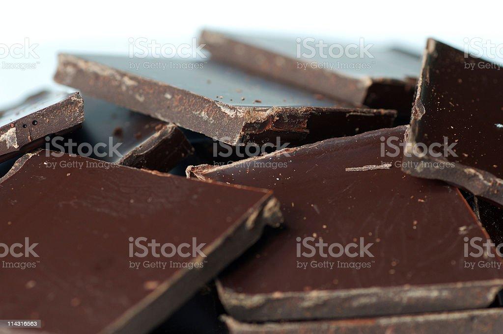 Dark Chocolate Heap royalty-free stock photo