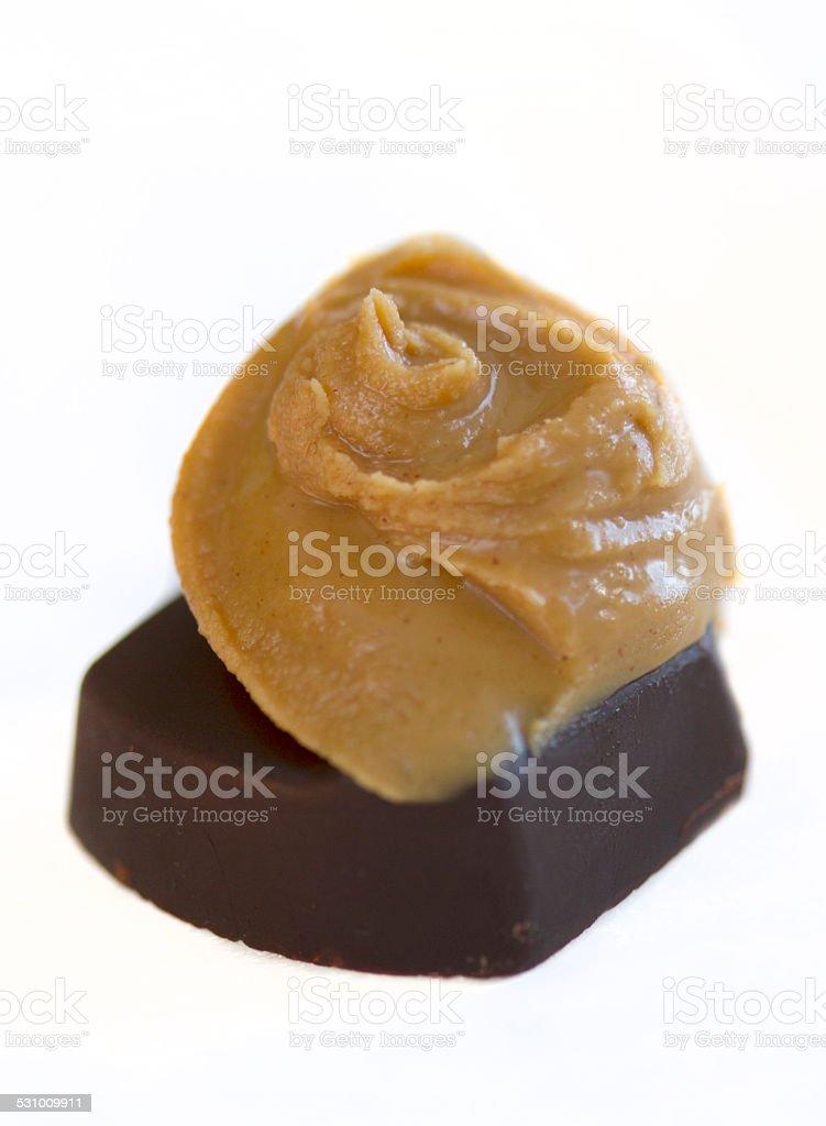 Chocolat noir et au beurre de cacahuète photo libre de droits