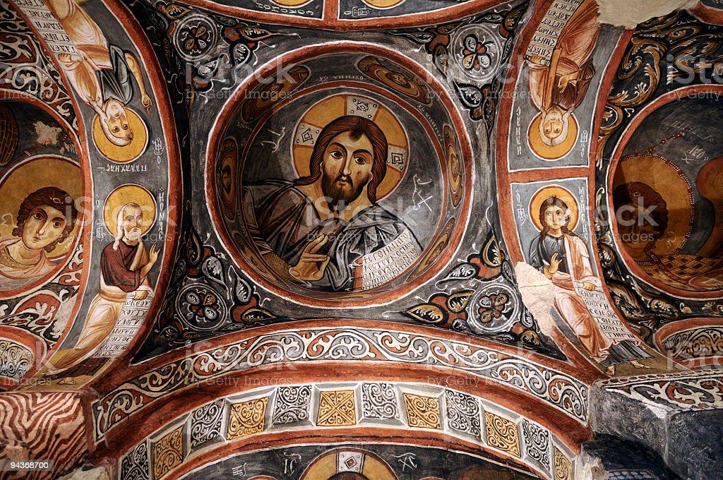 Dark Church, Goreme, Cappadocia, Turkey stock photo