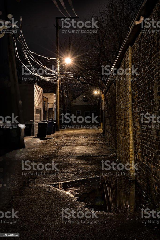 Dark City Alley stock photo