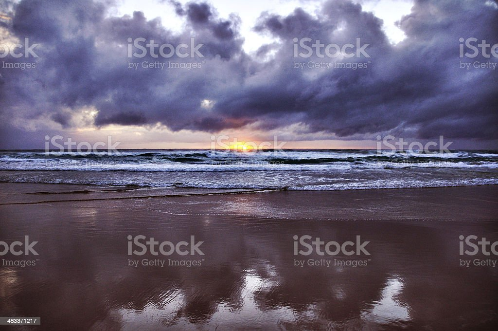 Dark Clouds and a Beautiful Sunrise royalty-free stock photo
