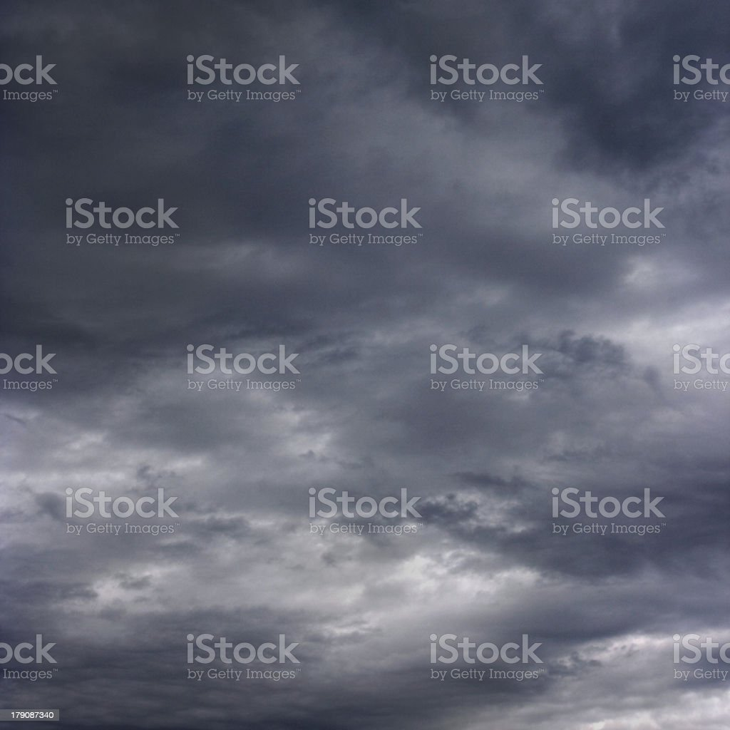 Dark clouds as if armageddon. royalty-free stock photo
