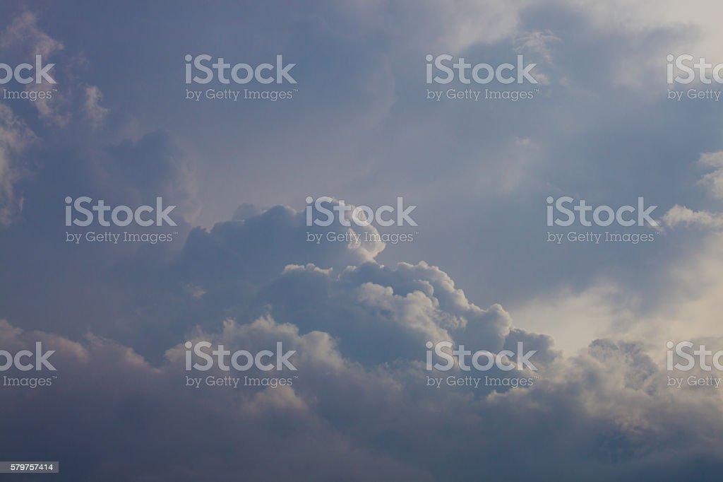 Dark clouds before rain - overcast stock photo