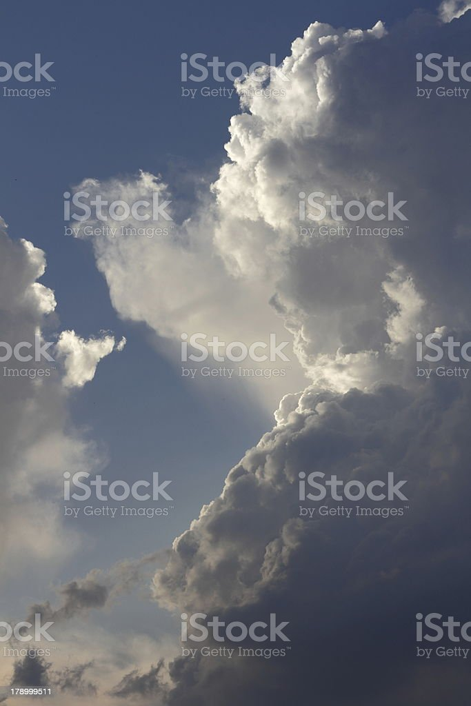 Dark clouds before storm royalty-free stock photo