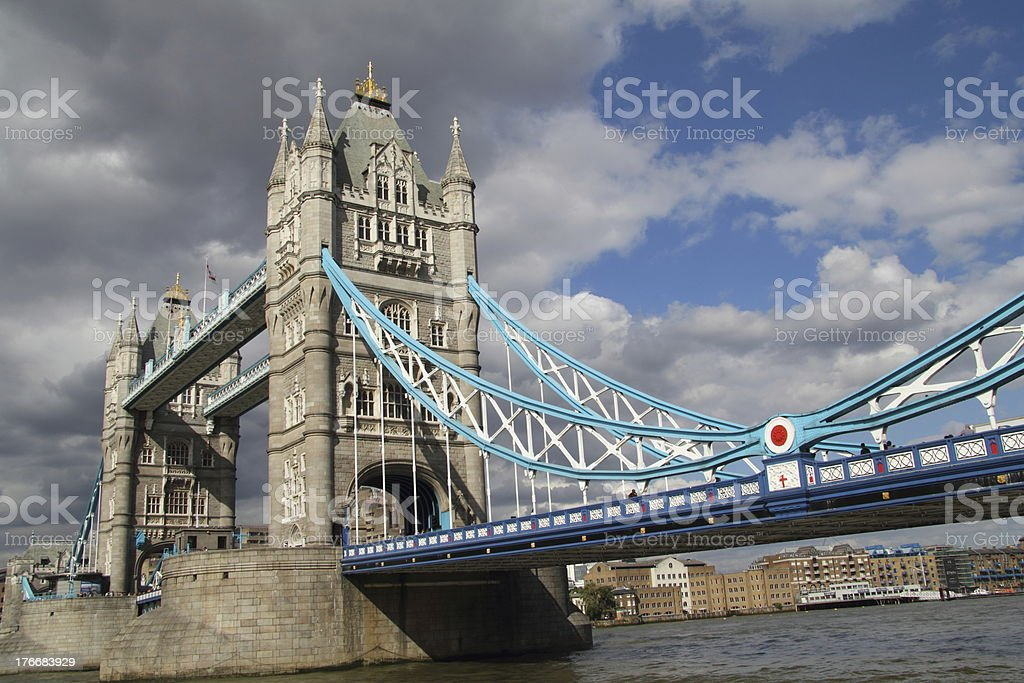 Dark Clouds over Tower Bridge, London royalty-free stock photo