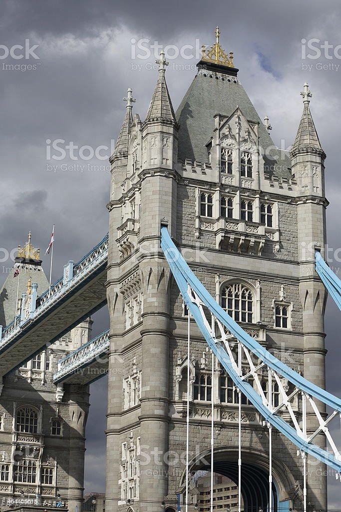 Dark Clouds over Tower Bridge, London royalty-free stock photo
