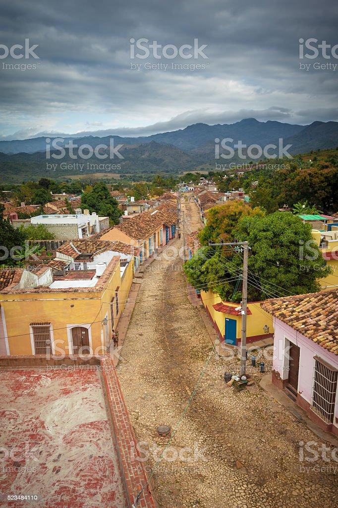 Dark Clouds Over Trinidad de Cuba stock photo