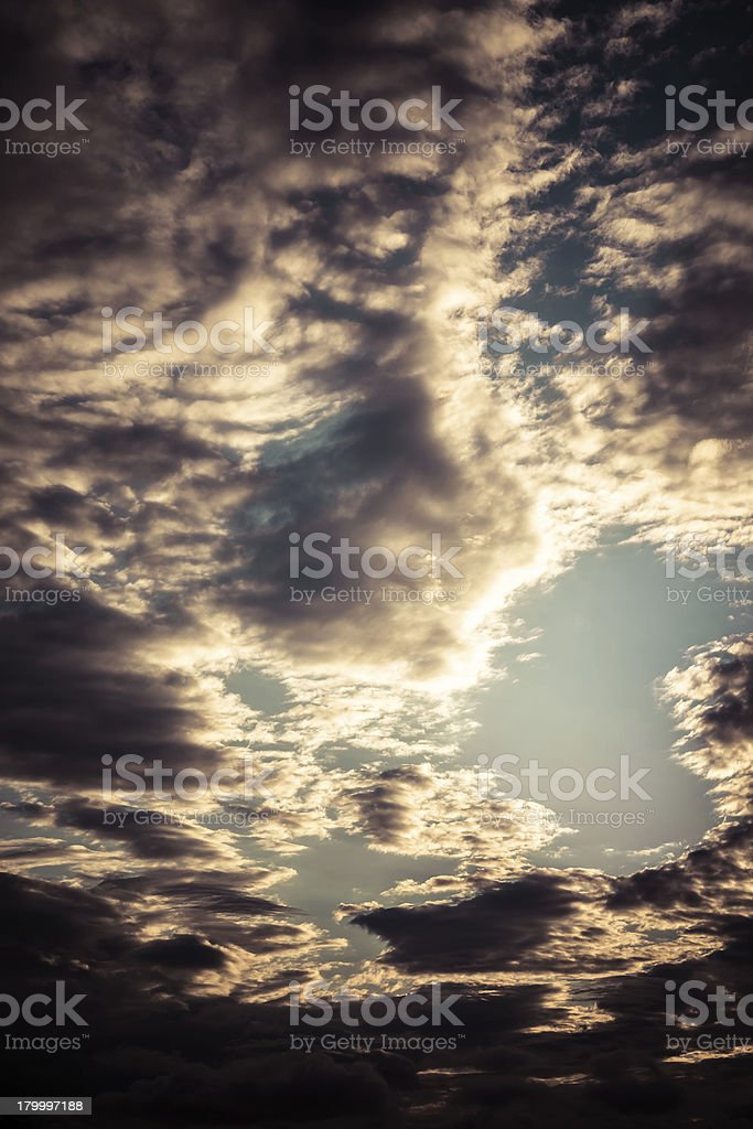 Dark clouds. royalty-free stock photo